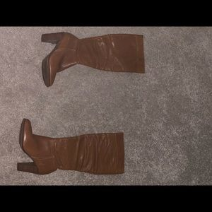 Brown mid way boots